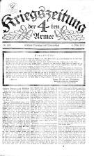 Kriegszeitung der 4. Armee