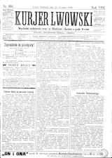 Kuryer Lwowski (Lemberger Courier) 18901221 Seite: 1