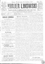 Kuryer Lwowski (Lemberger Courier) 18981220 Seite: 1