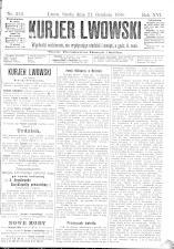Kuryer Lwowski (Lemberger Courier) 18981221 Seite: 1