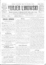 Kuryer Lwowski (Lemberger Courier) 18981222 Seite: 1