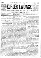 Kuryer Lwowski (Lemberger Courier) 19010206 Seite: 1