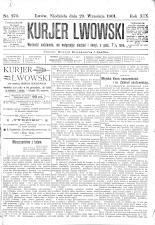 Kuryer Lwowski (Lemberger Courier) 19010929 Seite: 1