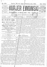 Kuryer Lwowski (Lemberger Courier) 19011001 Seite: 1