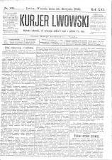 Kuryer Lwowski (Lemberger Courier) 19030825 Seite: 1