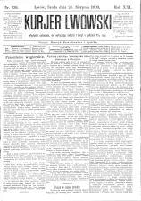 Kuryer Lwowski (Lemberger Courier) 19030826 Seite: 1