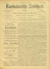 Kaufmännische Zeitschrift 18930701 Seite: 1