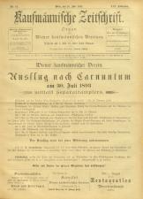 Kaufmännische Zeitschrift 18930715 Seite: 1