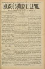 Krasso-Szörenyi lapok 18930319 Seite: 1