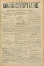 Krasso-Szörenyi lapok 18930326 Seite: 1