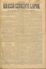 Krasso-Szörenyi lapok 18930716 Seite: 1