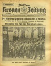 Illustrierte Kronen Zeitung 19381110 Seite: 1