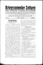 Kriegssammler-Zeitung