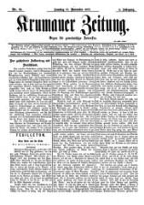 Krumauer Zeitung