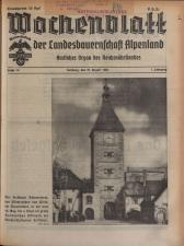 Wochenblatt der Bauernschaft für Salzburg