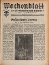 Wochenblatt der Bauernschaft für Salzburg 19381119 Seite: 3