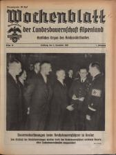 Wochenblatt der Bauernschaft für Salzburg 19381203 Seite: 1