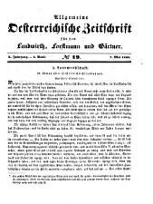 Allgemeine Österreichische Zeitschrift für den Landwirth, Forstmann und Gaertner: Centralblatt für die Resultate wissenschaftlicher Forschungen