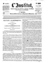 L'Institut Journal des academies [...] de la France [...]