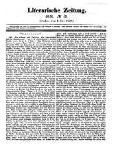 Literarische Zeitung ; in Verbindung mit mehreren Gelehrten