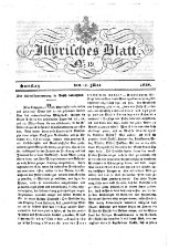 Laibacher Wochenblatt zum Nutzen und Vergnügen