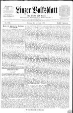 Linzer Volksblatt 18930611 Seite: 1