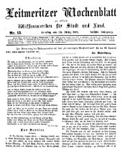 Leitmeritzer Wochenblatt