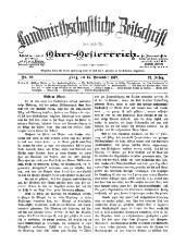 Landwirthschaftliche Zeitschrift von und für Oberösterreich
