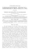 Österreichische Lehrerinnen-Zeitung 18930101 Seite: 1