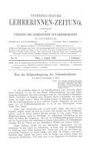 Österreichische Lehrerinnen-Zeitung 18930801 Seite: 1