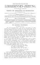 Österreichische Lehrerinnen-Zeitung