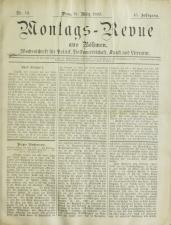 Montags-Revue aus Böhmen 18930327 Seite: 1