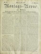 Montags-Revue aus Böhmen 18930717 Seite: 1