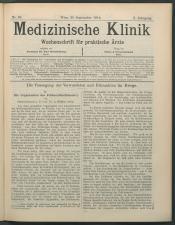 Medizinische Klinik. Wochenschrift für praktische Ärzte. Österreichische Ausgabe