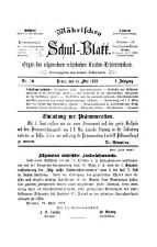 Mährisches Schul-Blatt. Organ des allgemeinen mährischen Landes-Lehrervereines