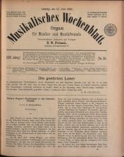 Musikalisches Wochenblatt