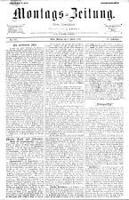 Montags Zeitung 18930102 Seite: 1