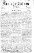 Montags Zeitung 18930227 Seite: 1