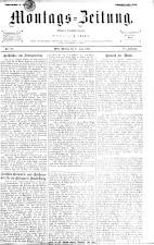 Montags Zeitung 18930626 Seite: 1