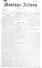 Montags Zeitung 18930710 Seite: 1