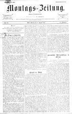 Montags Zeitung 18930828 Seite: 1