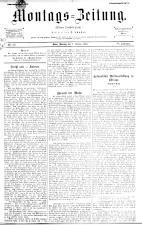 Montags Zeitung 18931009 Seite: 1
