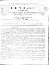 Die Neuzeit 18921230 Seite: 1