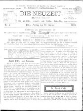 Die Neuzeit 18930127 Seite: 1