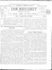 Die Neuzeit 18930324 Seite: 1