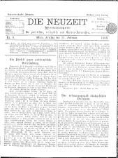 Die Neuzeit 18980211 Seite: 1