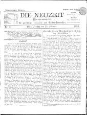 Die Neuzeit 18980225 Seite: 1