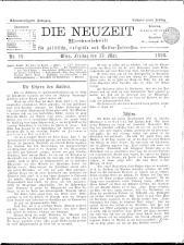 Die Neuzeit 18980513 Seite: 1