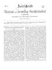 Zeitschrift für Notariat und freiwillige Gerichtsbarkeit in Österreich 18930308 Seite: 1