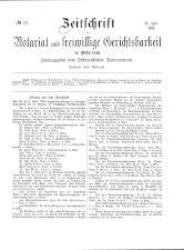 Zeitschrift für Notariat und freiwillige Gerichtsbarkeit in Österreich 18930419 Seite: 1